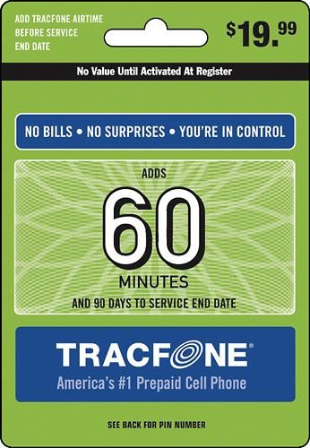 TRACFONE 60-Minute Prepaid Wireless Airtime Card | giftcardshunters