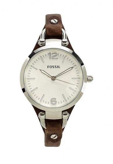 Классические часы Fossil с кварцевым механизмом. Корпус диаметром 34 мм выполнен из нержавеющей с...