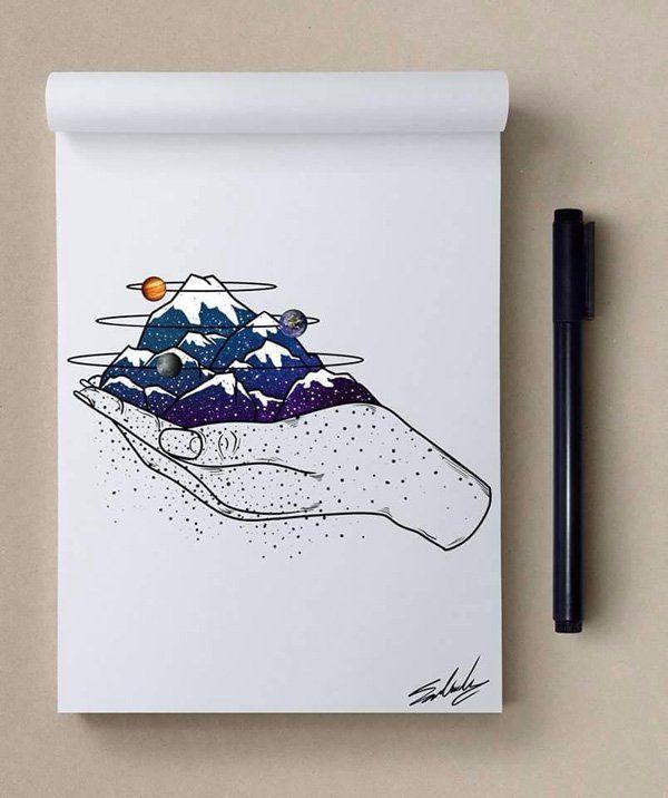 Good night - Stars Themed Illustrations by Muhammed Salah <3 <3