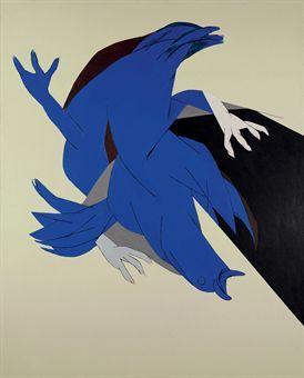 Falling Bird by Tyeb Mehta