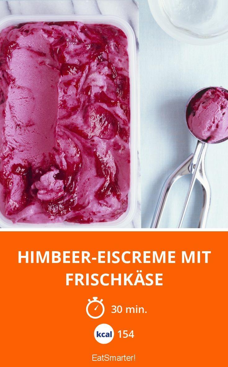 Himbeer-Eiscreme mit Frischkäse - smarter - Kalorien: 154 Kcal - Zeit: 30 Min. | eatsmarter.de