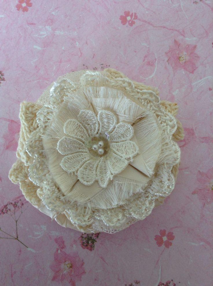 Shabby flower handmade by Juana
