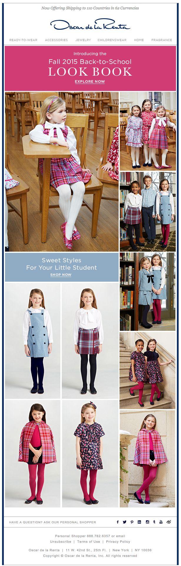 Oscar De La Renta |Just In: Shop Our Back to School Look Book