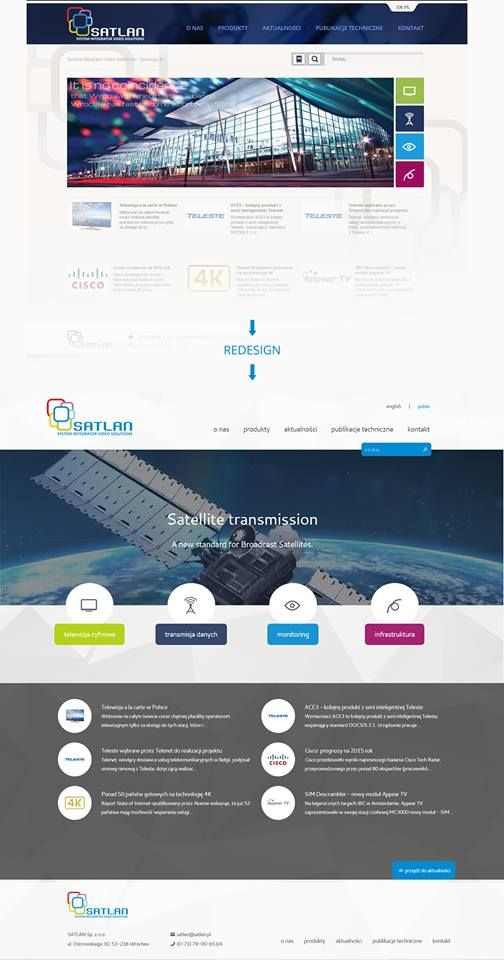 Redesign for Satlan | http://www.satlan.pl | http://aiac.pl  #websitedesign #redesign #aiac