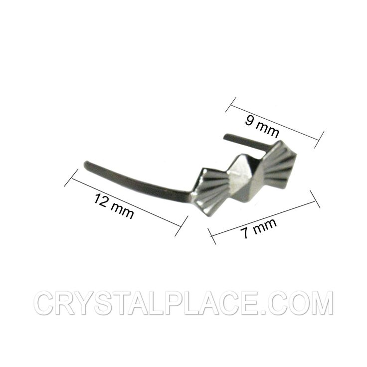 7mm Bow Tie Connector With 9mm Short Leg And 12mm Long Leg Package Of 25  $3.65