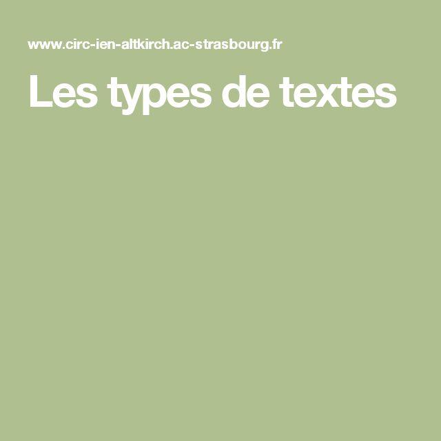 Les types de textes
