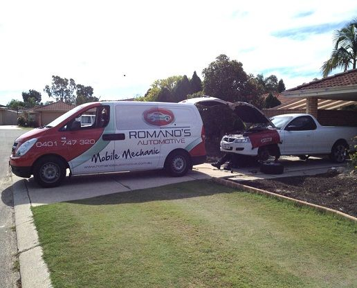 Romano's Automotive is specialised in mobile mechanics for Logbook car repairs or service, auto services, tyre services in the Perth.