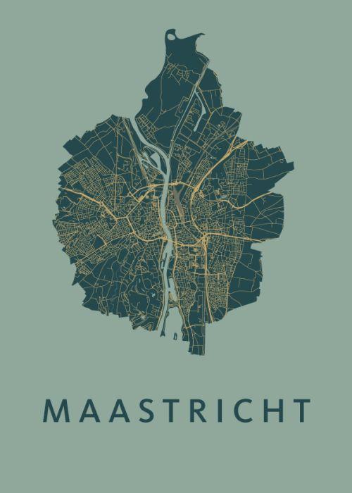 Stunning map art of Maastricht. We're in Love.