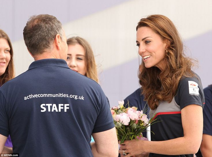 The royal couple joined thousands of spectators to cheer on Sir Ben's Land Rover BAR team compete on the Solent in the America's Cup World Series (ACWS)