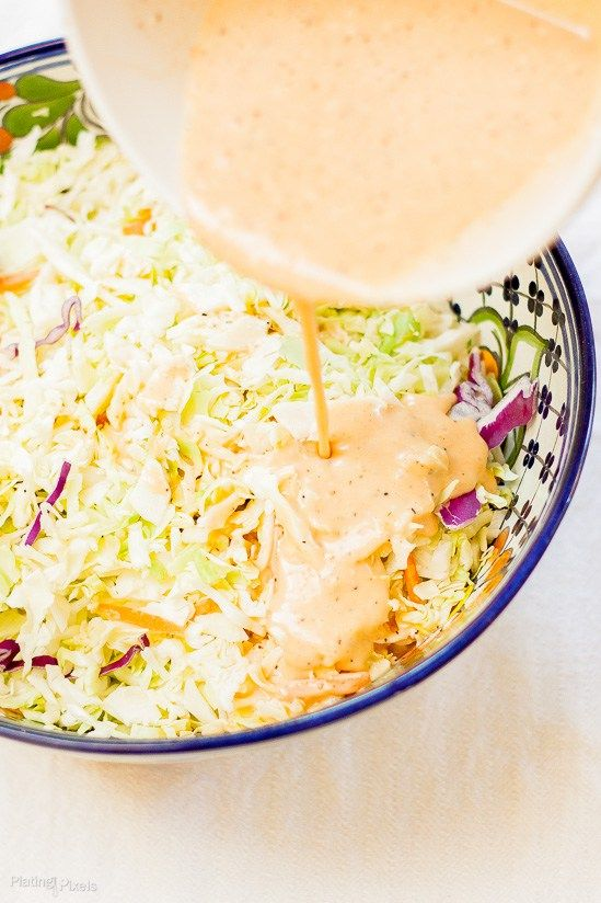 Honey Sriracha Coleslaw recipe - www.platingpixels.com