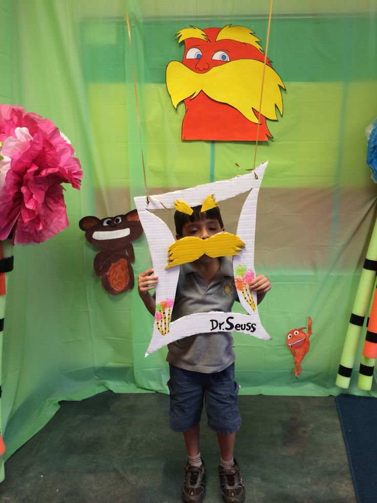 Lorax photo booth--could also be used for Earth Day. | Fun ...
