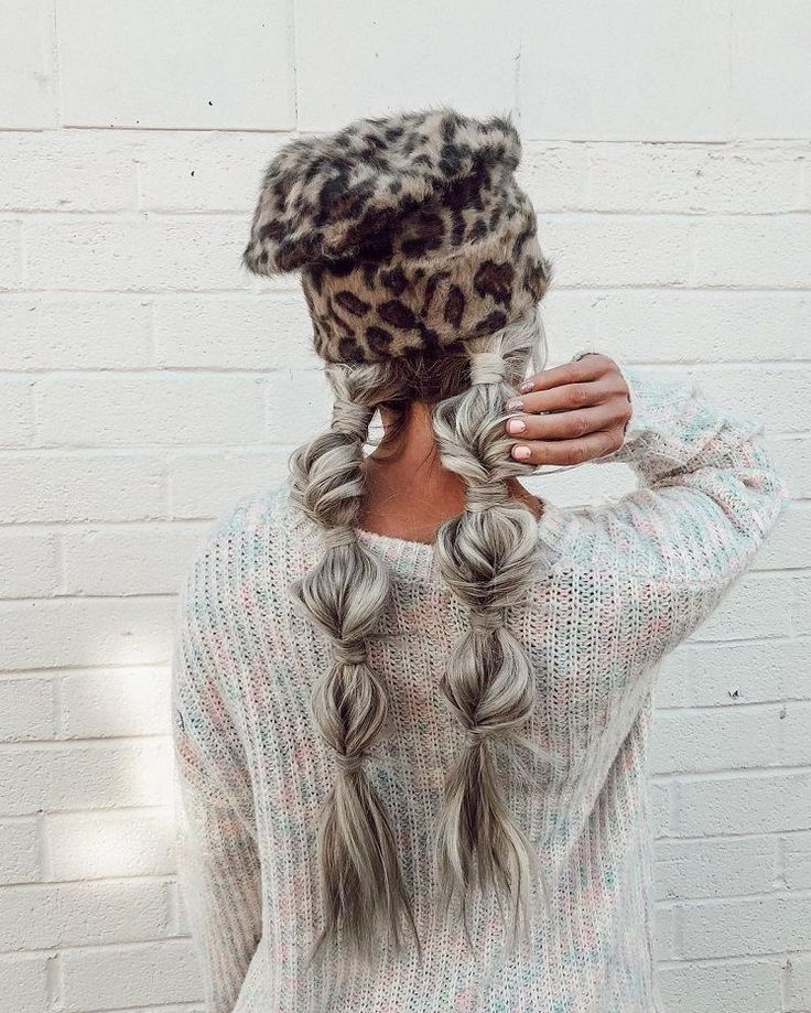 These hairstyles are lovely – braid hairstyle , gorgeous hair color, braided ponytails ,messy braids #hairstyle #haircolor #braids #hair #bun #cute