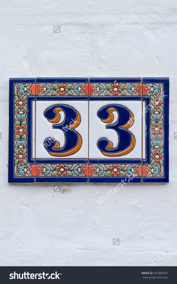 House Number 33 Стоковые фотографии 351882047 : Shutterstock