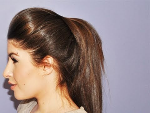 Volumized Ponytail Hair Tutorial! Find out how to turn a boring flat ponytail to a ponytail with a little glam !