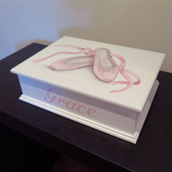 Ballet Slippers personalised memory box keepsake by redlovesgreen