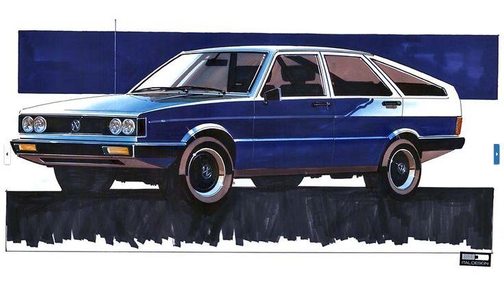 OG | 1973 Volkswagen / VW Passat B1 - EA 400 | Design sketch by Giugaro