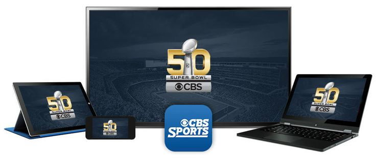 Watch Super Bowl 50 Live for FREE. The 2016 Super Bowl will be available Live on CBS, your computer or tablet at CBSSports.com, or home entertainment device (Xbox One, Apple TV, Chromecast, and Roku). Live streaming on mobile devices is only available for eligible Verizon Wireless customers via the NFL Mobile App.