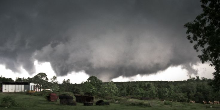 Tornado on the ground south of Pine Apple Alabama - April 15, 2011  -  earlb.com