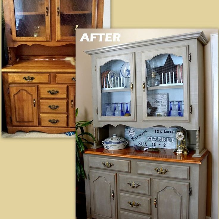 farmhouse china cabinet makeover french country pinterest aus alt mach neu alte schr nke. Black Bedroom Furniture Sets. Home Design Ideas