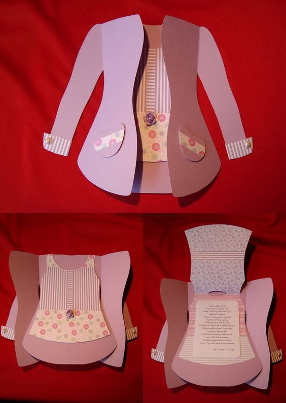 Tarjeta chaqueta mujer. Dia de la madre. Mother's day. Card: