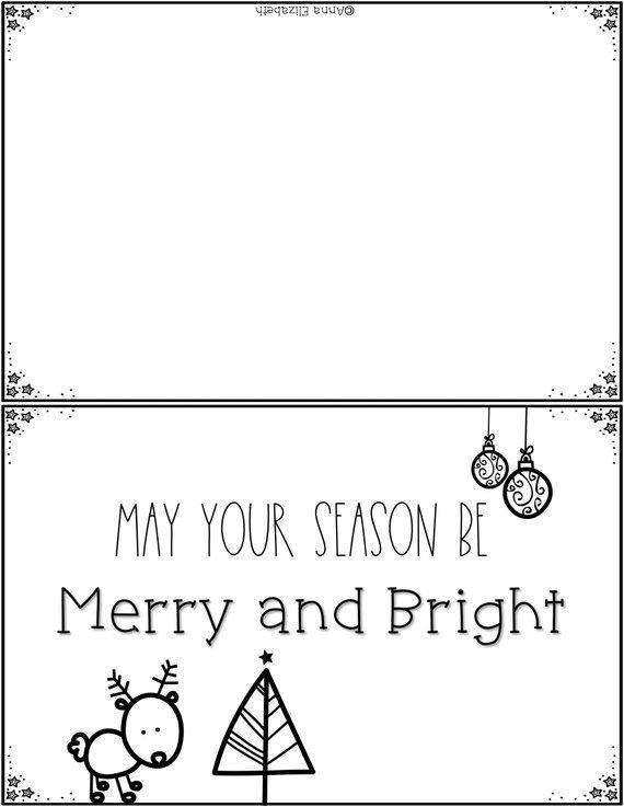 Printable Christmas Card Etsy Coloring Holiday Cards Printable Holiday Card Printable Christmas Cards
