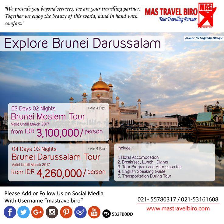 Visit Brunei From IDR 3.100.000/Pax , Book Now ! ;) #mastravelbiro #brunei #tour #asia