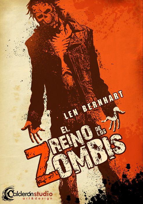 Diseño e ilustración descartados para la cubierta de El reino de los zombis de Len Bernhart. Discarded cover art and design for Len Bernhart's El reino de los zombies (Reign of the Death).