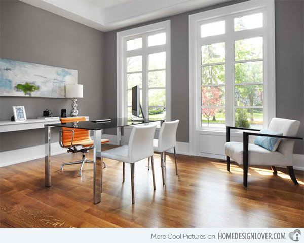 Modern Home Design Ideas Gray: Best 25+ Gray Home Offices Ideas On Pinterest