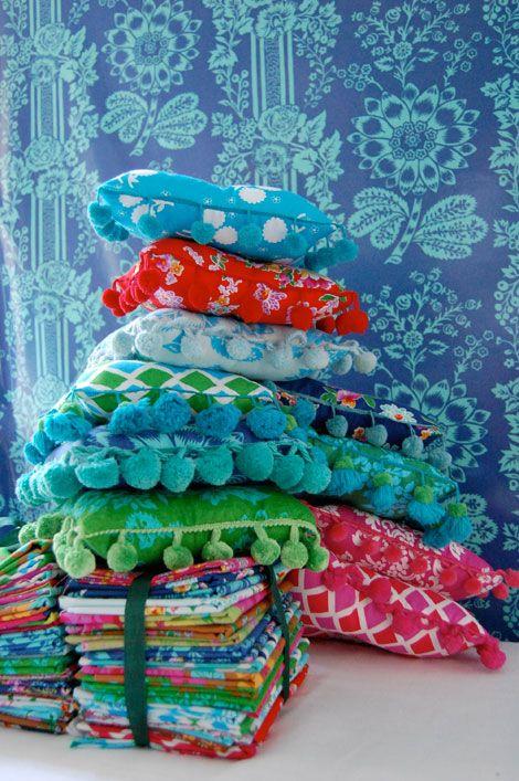 Girls-World mini tassel pillows!!
