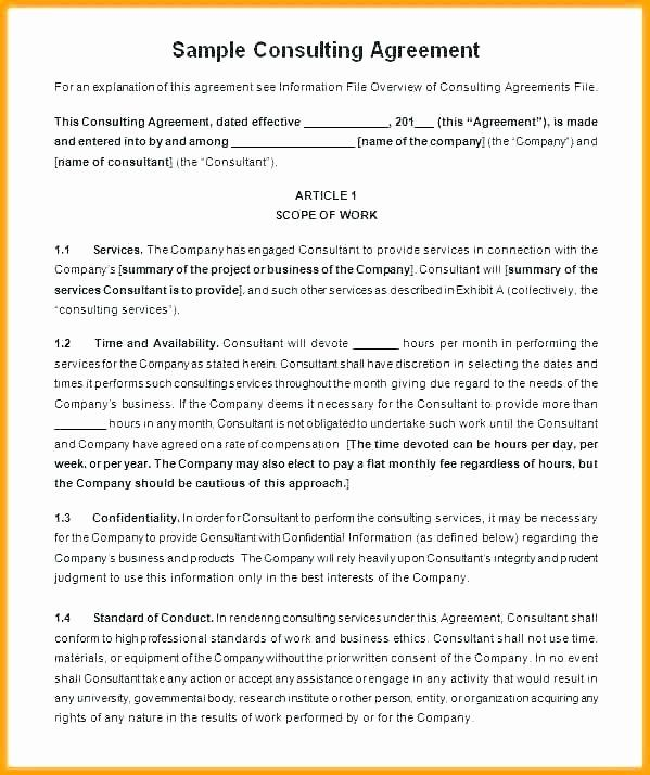 Short Consulting Agreement Template Best Of Business Consulting Agreement Short Form Template Contract Contract Template Doctors Note Template Agreement