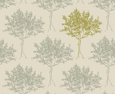 Tree </br> Duckegg CB and  Lime CB on Linen