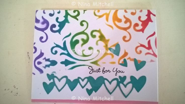 NM cards - Ornate template with green hearts