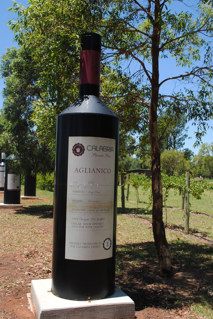 big wine bottle Griffith, nsw