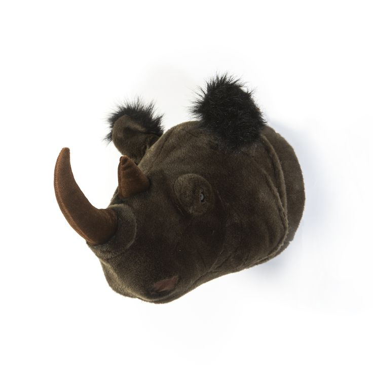 Dierenkop Neushoorn - Michael - muurornament - Wild & Soft