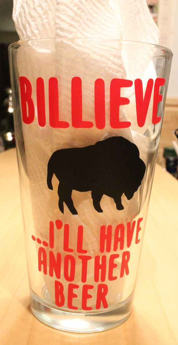 Hey, I found this really awesome Etsy listing at https://www.etsy.com/listing/172784083/buffalo-bills-beer-glass-with-vinyl