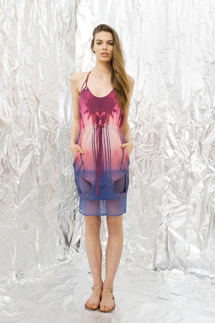 Pink Palm Tree Dress by DAIGE