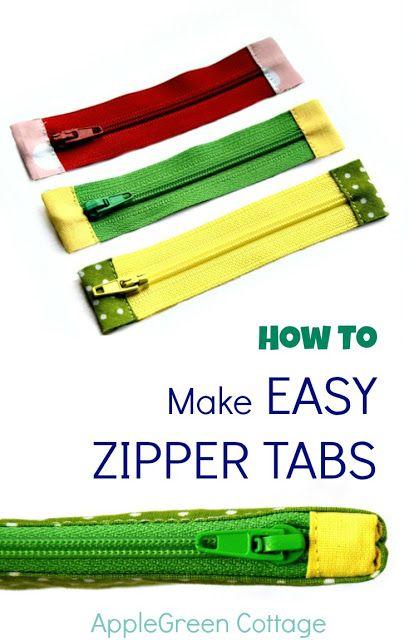 How To Shorten A Zipper – And Add Zipper Tabs