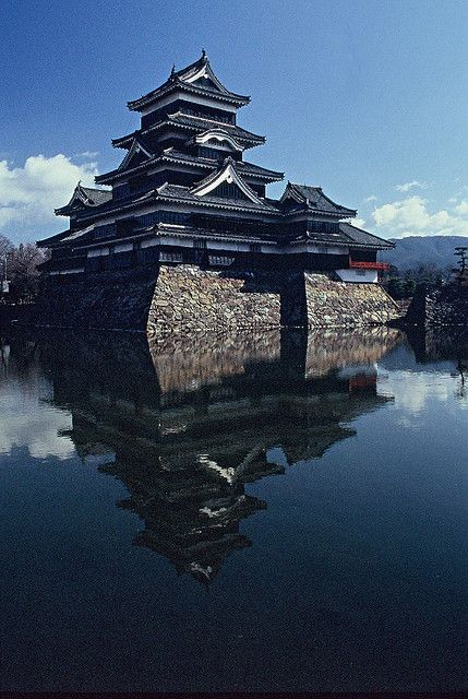 "Matsumoto Castle is one of Japan's premier historic castles. The building is also known as the ""Crow Castle"" due to its black exterior. It was the seat of the Matsumoto domain."
