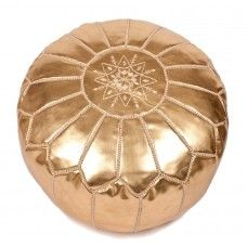 Faux Leather Pouf - Gold - $179.00 NZD - including delivery