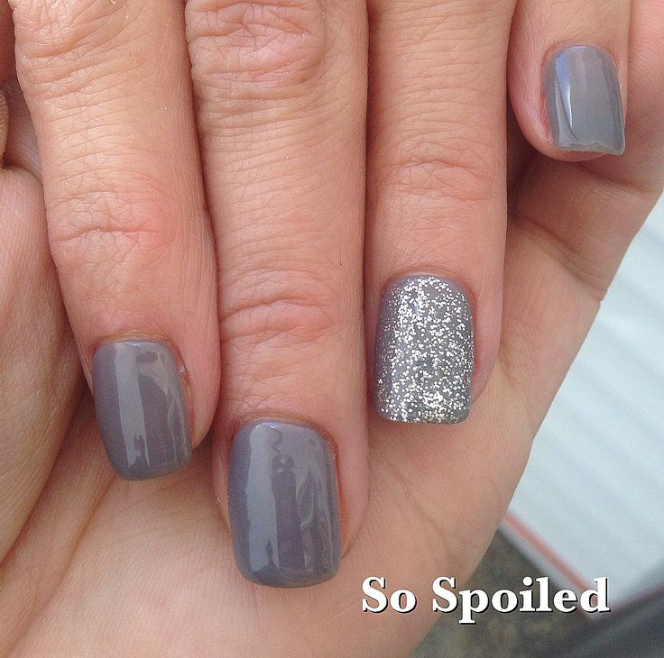 Bio Sculpture Gel Nail Art & Design. Classic grey neutral for Spring 2014. So shiny you can see me reflected off her nail taking the pic! Lol gotta love Bio Sculpture!!!  Featured Gels: Cango Caves and Duchess