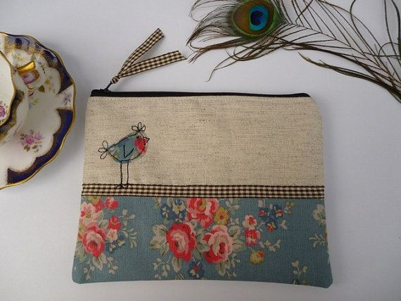 Handmade Cosmetic Makeup Bag Purse Cath by PeacockEmporiumLady, £12.99