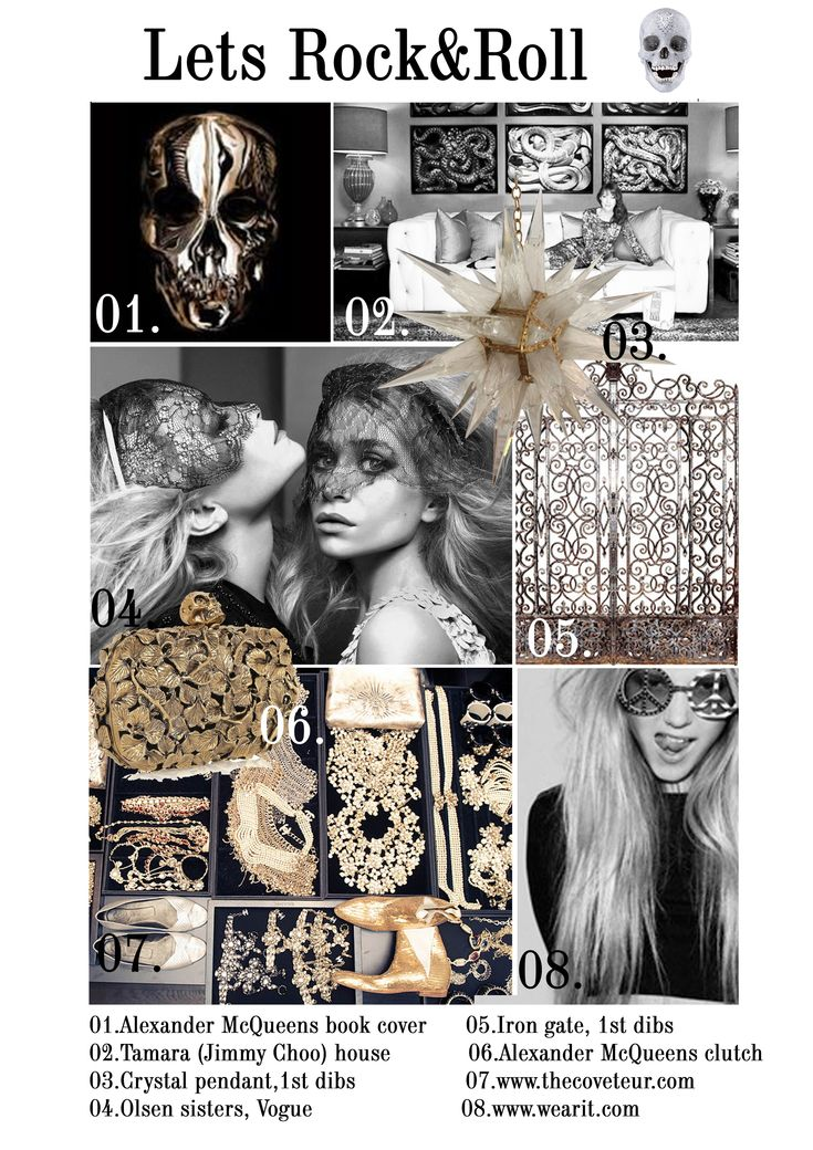 rock mood board,fashion,interior design