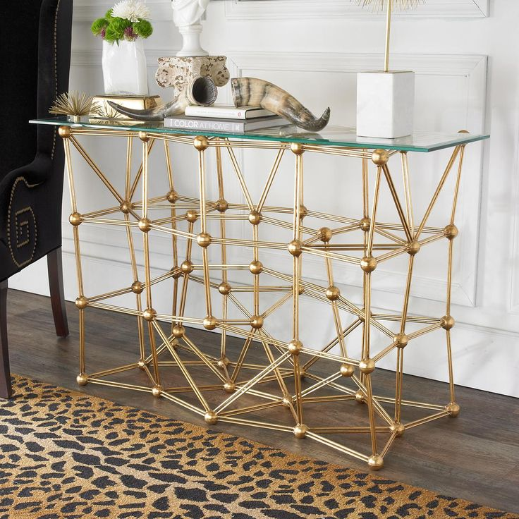 Gold Foyer Table : Best ideas about glass top accent tables on pinterest