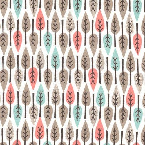 Cloud 9 Organic Fabric My Happy Nursery Leaves Shell door fabricworm