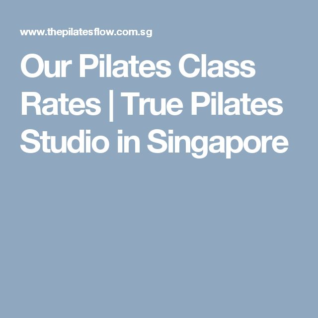 Our Pilates Class Rates | True Pilates Studio in Singapore