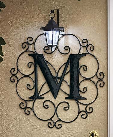 Add a personal touch to your home with a Monogram Solar Light. It uses the power of the sun to light up your initial. Turns on automatically at dusk.On/of