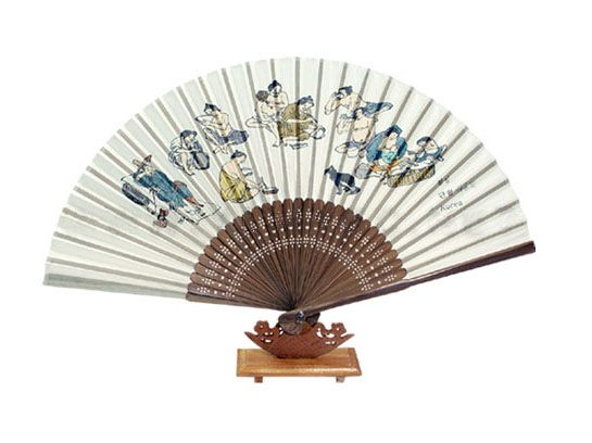 Traditional Folding Fan - Jeomsim( Lunch time)