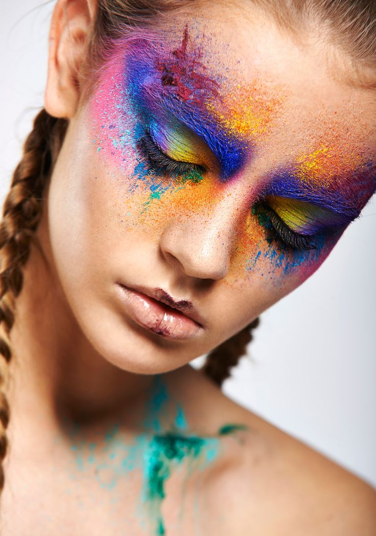 Colourful creative makeup