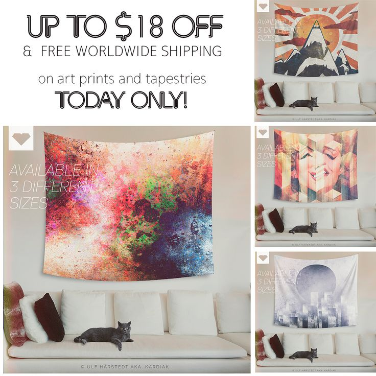 UP TO $18 OFF + #freeshipping on #artprints & #tapestries TODAY ONLY AT Society6 !  #wallart