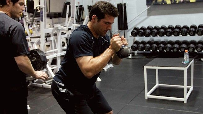 Ten kettlebell exercises baseball and softball players can use to improve their performance on the diamond.